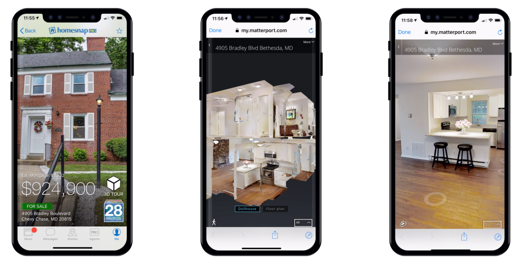 Matterport Homesnap 3D Home Tours